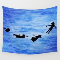 neverland Wall Tapestries featuring Neverland by Sierra Christy Art