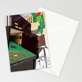 mazes of cities Stationery Cards