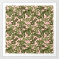 Frond of You - Light Pink Art Print