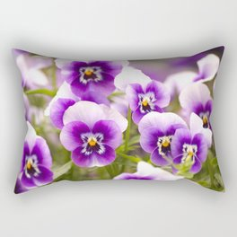 Wonderful Pansies Purple Flowers #decor #society6 Rectangular Pillow