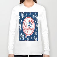 yankees Long Sleeve T-shirts featuring NY YANKEES by I Love Decor