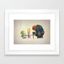 Zelda - Why Can't We Be Friends? Framed Art Print