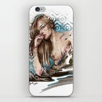 charmaine olivia iPhone & iPod Skins featuring Olivia by Anna Sun