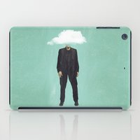 risa rodil iPad Cases featuring Head in the Cloud by Vin Zzep