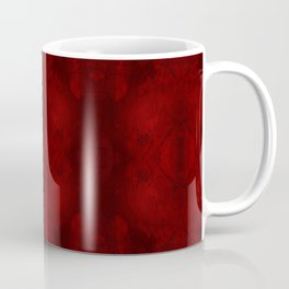 Something Like a Symphony: Red and Black Digital Art Coffee Mug