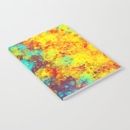 Watercolor and Splatter - Colorful Notebook