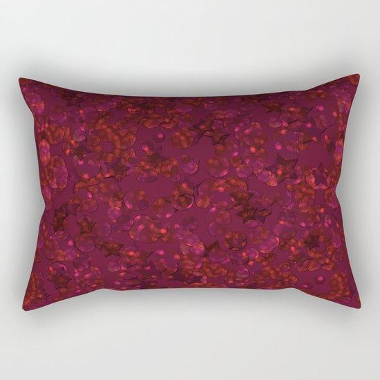 Red festive confetti. Red glitter. Rectangular Pillow