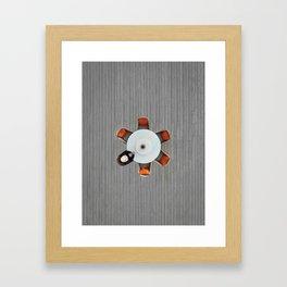 Lonely lunch Framed Art Print