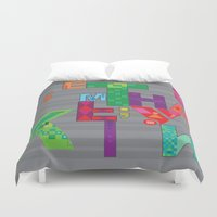 typo Duvet Covers featuring typo by nuage rouge