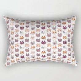Cute Kitty Cat Faces Pattern Rectangular Pillow
