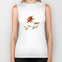 andreas preis Biker Tanks featuring Sunflower Abstract by Klara Acel