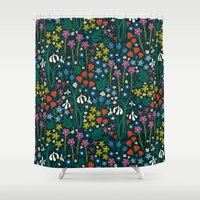 garden Shower Curtains featuring Botanical Garden  by Anna Deegan