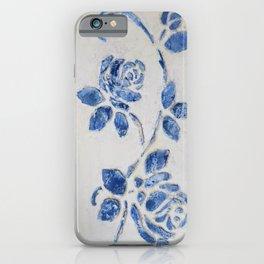 Original Art - Wedgewood Blue Roses - Raised detail & texture iPhone Case