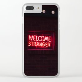 Welcome Stranger - Sheridan, WY Clear iPhone Case