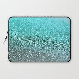 TEAL GLITTER Laptop Sleeve