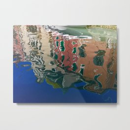 Venezia, Italy, Rio San Marin Reflections Metal Print