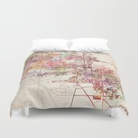 phoenix Duvet Covers featuring Phoenix  by MapMapMaps.Watercolors