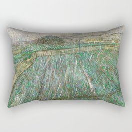 Vincent Van Gogh - Rain Rectangular Pillow