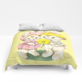 Bunny Girl + Boy Comforters