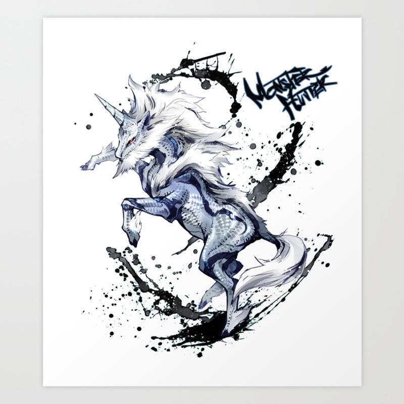 Monster Hunter World Kirin Art Print