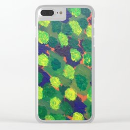 Gardens in Homage to Monet Clear iPhone Case