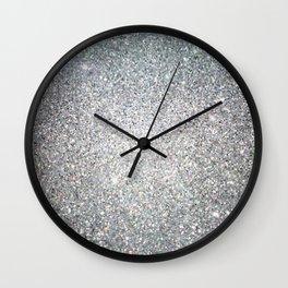 Diamond White Sparkling Jewels Pattern Wall Clock