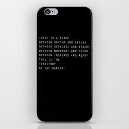 Between rhythm and ground iPhone Skin