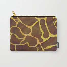 Giraffe Brown and Yellow Print Carry-All Pouch