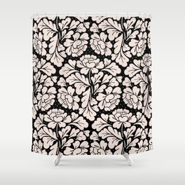Barroco pink and black Shower Curtain