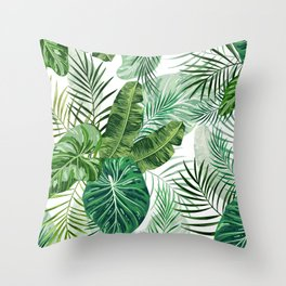 Tropical leaves 3 Throw Pillow