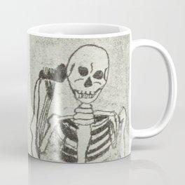 Skeleton's telephone. Coffee Mug