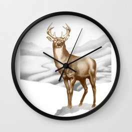White-tailed Stag 2 Wall Clock