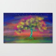A LUMINESCENT TREE Canvas Print