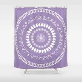 Round lilac pattern Shower Curtain