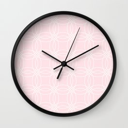 Simply Vintage Link White on Pink Flamingo Wall Clock