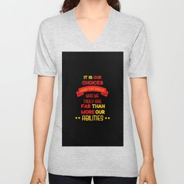 Harry Potter Quote Unisex V-Neck