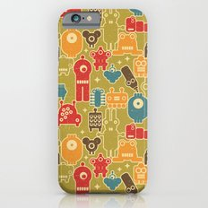 Robots on green. iPhone 6 Slim Case
