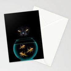 Black Cat Goldfish Stationery Cards