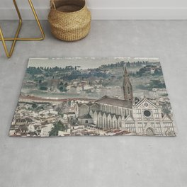 Aerial View Historic Center of Florence, Italy Rug