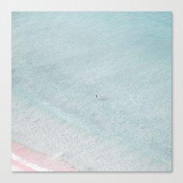 beach - the swimmer Canvas Print