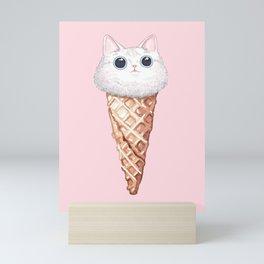 Cat Ice Cream Mini Art Print