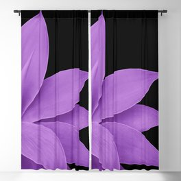 Agave Finesse #10 - Purple on Black #tropical #decor #art #society6 Blackout Curtain