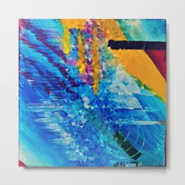 Square painting triangle geometry abstract Metal Print