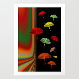 all my little umbrellas Kunstdrucke