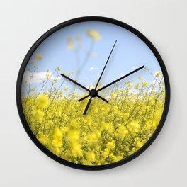 Poppin Poppies Wall Clock