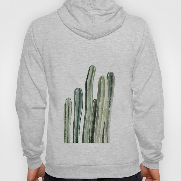 Tall Cacti Watercolor Painting Hoody