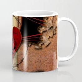 Heart with dragon and wings Coffee Mug