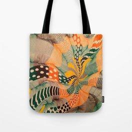 hypnotic color wave Tote Bag