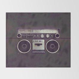 Retro Boombox Throw Blanket