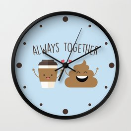 Always Together, Cute, Funny, Quote Wall Clock